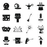 Ícones mágicos ajustados, estilo simples ilustração do vetor