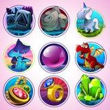 Ícones mágicos do vetor Fotos de Stock Royalty Free