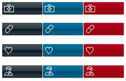Ícones médicos 1 (vetor) Fotos de Stock