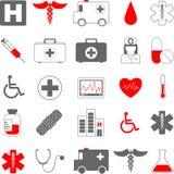 Ícones médicos Fotografia de Stock