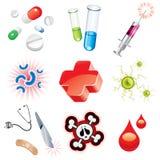 Ícones médicos ajustados Fotos de Stock Royalty Free