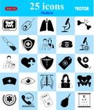 Ícones médicos ajustados para a Web e o móbil Foto de Stock