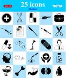 Ícones médicos ajustados para a Web e o móbil Imagem de Stock
