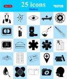 Ícones médicos ajustados para a Web e o móbil Imagens de Stock Royalty Free