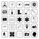 Ícones médicos ajustados para a Web e o móbil Fotografia de Stock
