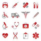 Ícones médicos coloridos Imagens de Stock Royalty Free