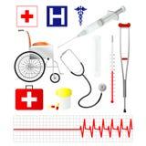 Ícones médicos do vetor   Foto de Stock Royalty Free