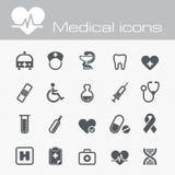 Ícones médicos do vetor ajustados Imagens de Stock
