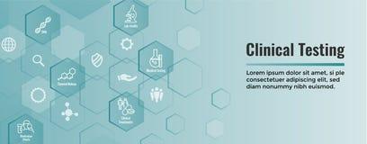 Ícones médicos dos cuidados médicos com os povos que fazem um mapa da doença ou da bandeira de encabeçamento científica da Web da ilustração royalty free