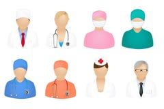 Ícones médicos dos povos Imagem de Stock Royalty Free