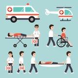 Ícones médicos e do hospital ilustração stock