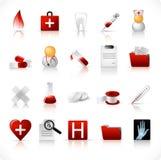 Ícones médicos/jogo 1 Fotografia de Stock Royalty Free