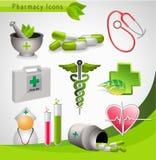 Ícones médicos - vetor Fotografia de Stock