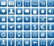 Ícones móveis Imagens de Stock Royalty Free