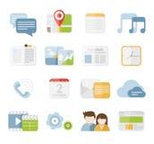 Ícones móveis Imagens de Stock