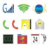 Ícones móveis da tabuleta Foto de Stock Royalty Free