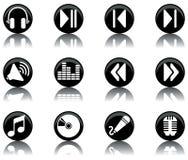 Ícones - a música ajustou 2 Imagem de Stock