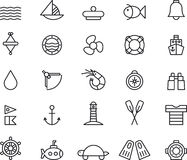 Ícones marinhos Imagem de Stock
