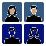 Ícones masculinos e fêmeas Fotos de Stock Royalty Free