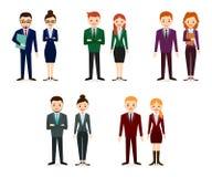 Ícones masculinos e fêmeas dos povos Coleção lisa dos ícones dos povos Imagem de Stock Royalty Free