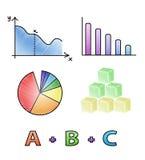 Ícones matemáticos do vetor Fotos de Stock Royalty Free