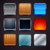 Ícones materiais Imagem de Stock