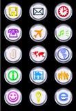 Ícones metálicos Imagens de Stock Royalty Free