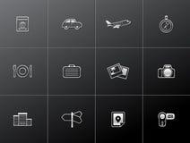Ícones metálicos - curso Imagem de Stock