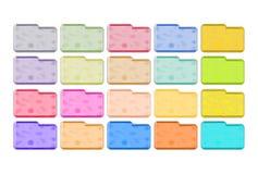 Ícones metálicos dos dobradores Imagens de Stock Royalty Free