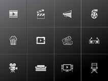 Ícones metálicos - filme Imagem de Stock