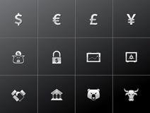 Ícones metálicos - finança Foto de Stock Royalty Free