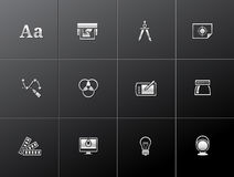 Ícones metálicos - impressão & projeto gráfico Foto de Stock Royalty Free