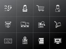 Ícones metálicos - logísticos Imagens de Stock Royalty Free