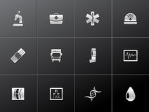 Ícones metálicos - mais médicos Imagens de Stock Royalty Free