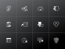 Ícones metálicos - partilha de ficheiros Fotografia de Stock Royalty Free