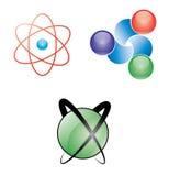 Ícones atômicos do Web Fotografia de Stock