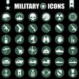 Ícones militares ajustados Fotos de Stock Royalty Free