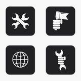 Ícones modernos do dia labour do vetor ajustados Foto de Stock Royalty Free