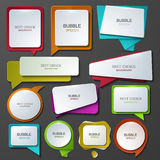 Ícones modernos do discurso da bolha do vetor ajustados Fotos de Stock