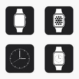 Ícones modernos do smartwatch do vetor ajustados Fotos de Stock Royalty Free
