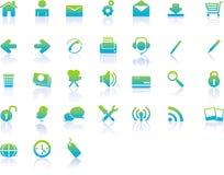 Ícones modernos do Web Imagens de Stock