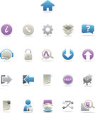 Ícones modernos lustrosos do Web Foto de Stock