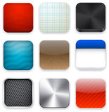 Ícones modernos quadrados do molde do app. Foto de Stock Royalty Free
