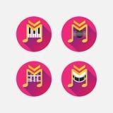 Ícones musicais ilustração royalty free