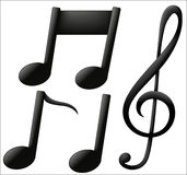 Ícones musicais no fundo branco ilustração stock