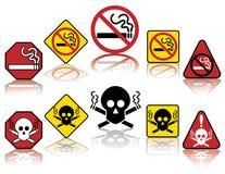 Ícones não fumadores Fotografia de Stock