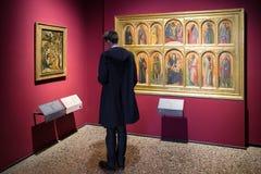 Ícones na galeria de arte de Brera, Milão Fotografia de Stock