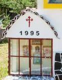 Ícones nas portas do monastério de Saint Panteleimon, Bulgária Fotografia de Stock Royalty Free
