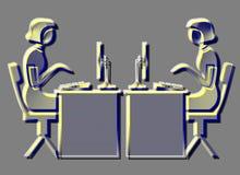 Ícones: Negócio no Web ilustração royalty free