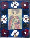 Ícones no templo velho Fotos de Stock Royalty Free